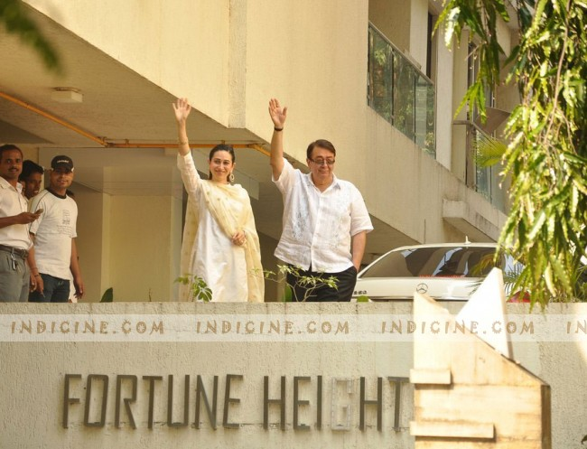 Karishma Kapoor with father Randhir Kapoor