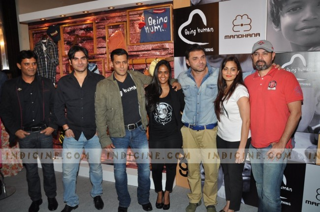 Salman Khan with family at Being Human Launch