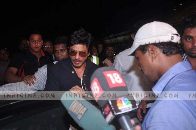 Shahrukh Khan at the airport