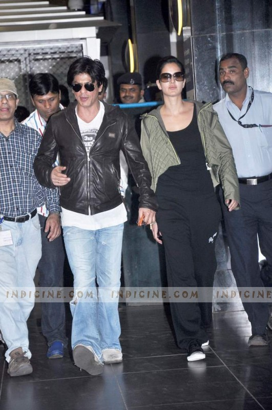 Shahrukh Khan and Katrina Kaif are back in Bombay from London after the first schedule of Yash Chopra's Next