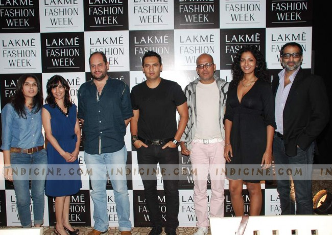 Marc Robinson, Narendra Kumar Ahmed, Sheetal Malhar at Lakme Fashion Week auditions