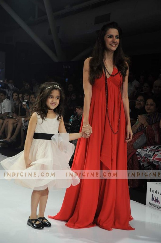Shruti Seth walks at India Kids Fashion Show