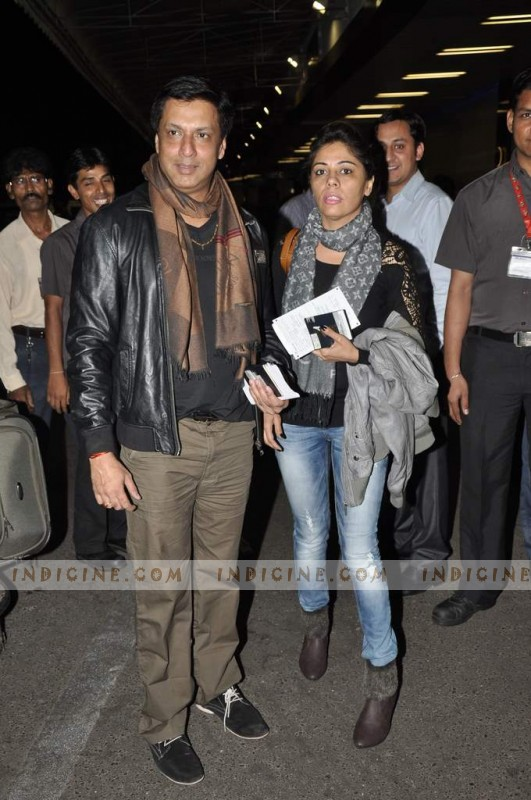 Madhur Bhandarkar with wife Renu