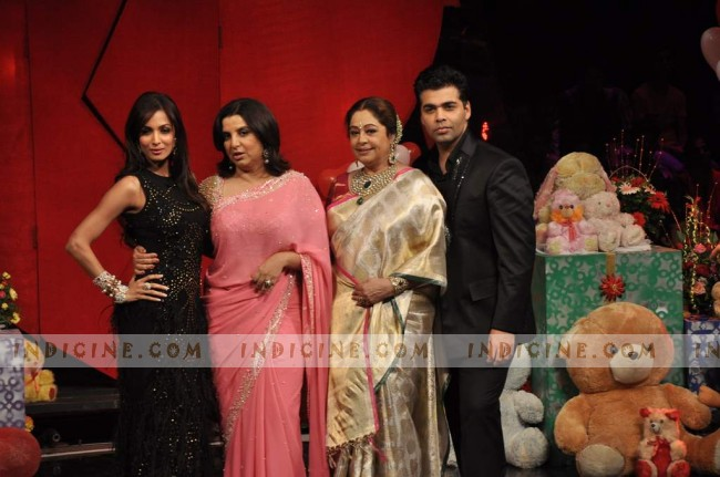 Malaika, Farah Khan, Kirron Kher and Karan Johar