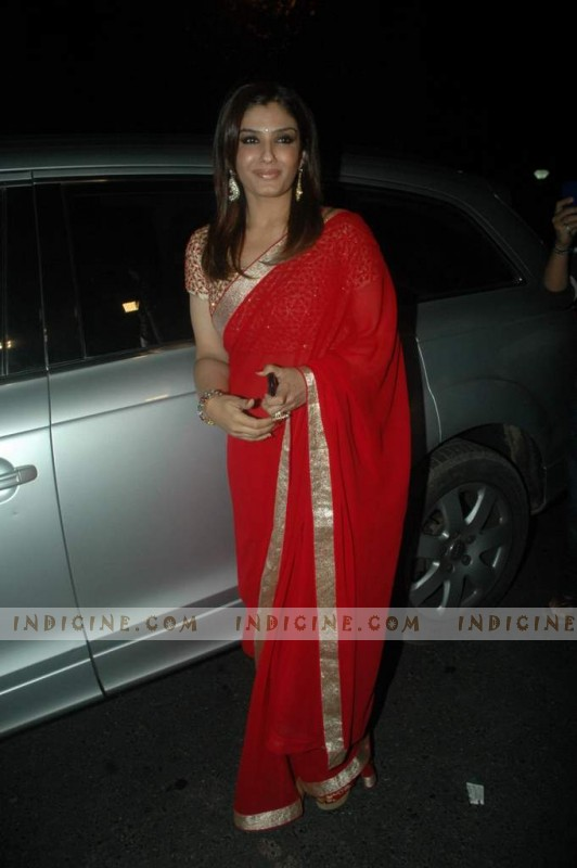 Raveena Tandon at Sanjay Dutt's Bash