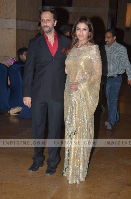 Anil Thadani and Raveena Tandon at Honey Bhagnani's sangeet