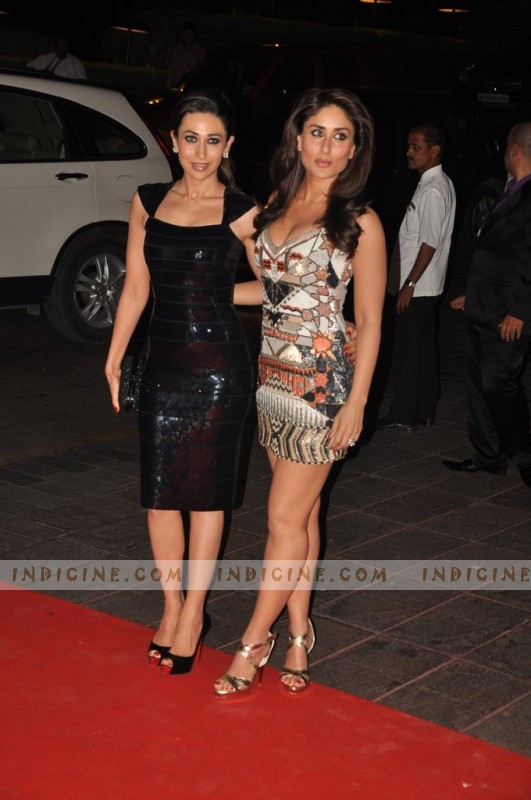 Kareena Kapoor with sister Karishma Kapoor at Karan Johar's 40th birthday party