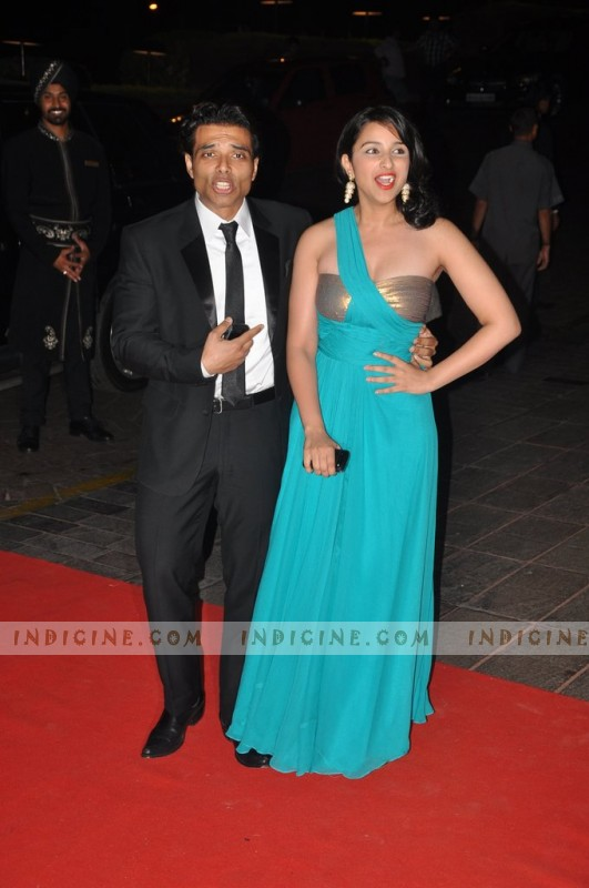 Uday Chopra with Parineeti Chopra at Karan Johar's 40th birthday party