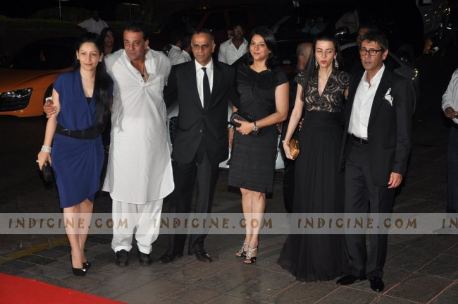 Sanjay Dutt with his family at Karan Johar's 40th birthday party