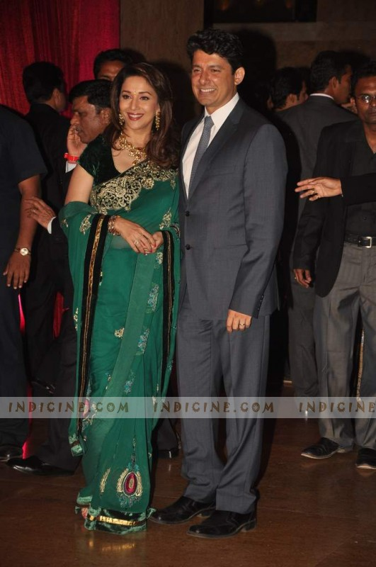 Madhuri Dixit with Dr Sriram Madhav Nene at Ritesh and Genelia's wedding reception