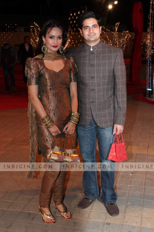 Nisha Rawal and Karan Mehra at wedding reception of Vikas Kalantri