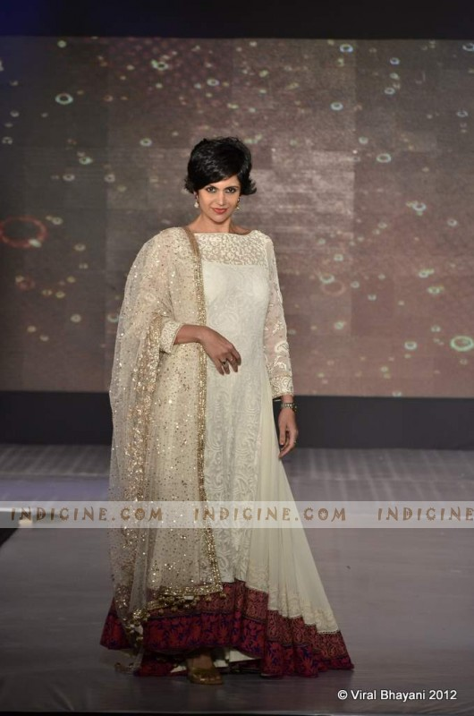 Mandira Bedi walks for Manish Malhotra's Lilavati Girl Child show