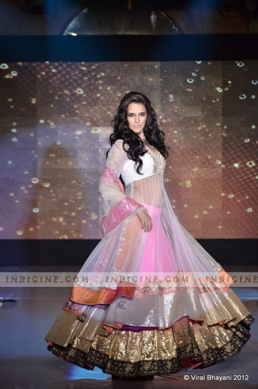 Neha Dhupia walks for Manish Malhotra's Lilavati Girl Child show