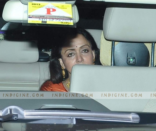 Hema Malini - Steven Spielberg Bollywood bash