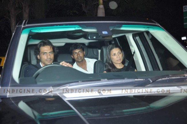 Arjun Rampal with wife Mehr Jesia