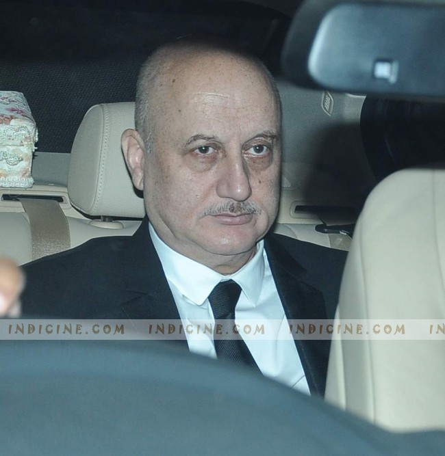 Anupam Kher - Steven Spielberg Bollywood bash