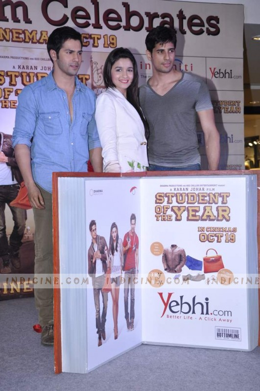 Varun, Alia and Siddharth - Student Of The Year merchandise launch