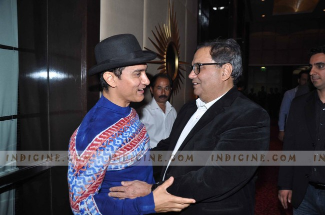 Aamir Khan at Subhash Ghai's birthday bash