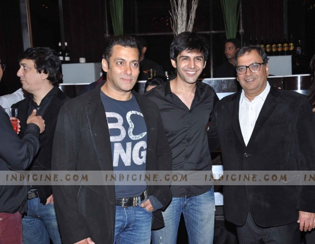 Salman Khan, Kartikeya Tiwari and Subhash Ghai