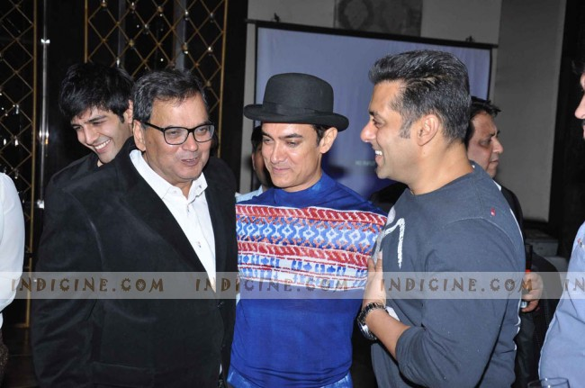 Subhash Ghai with Aamir Khan and Salman Khan