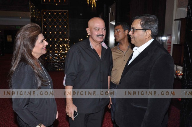 Rakesh Roshan and wife Pinky Roshan at Subhash Ghai's birthday bash