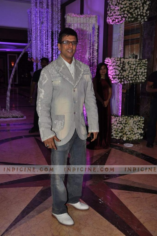 Javed Jaffrey at Sunidhi Chauhan's wedding ceremony