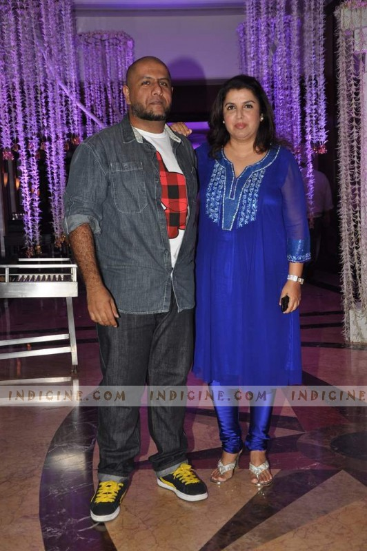 Vishal Dadlani, Farah Khan at Sunidhi Chauhan's wedding ceremony