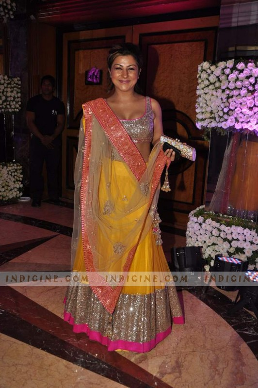 Hard Kaur at Sunidhi Chauhan's wedding ceremony