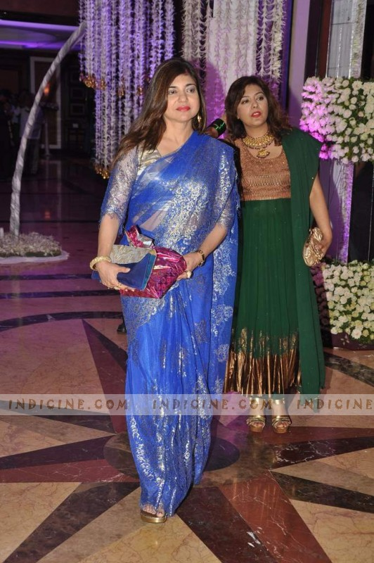 Alka Yagnik at Sunidhi Chauhan's wedding ceremony