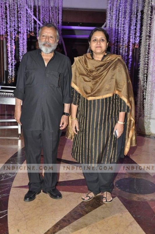 Pankaj Kapoor with wife Supriya Pathak at Sunidhi Chauhan's wedding ceremony