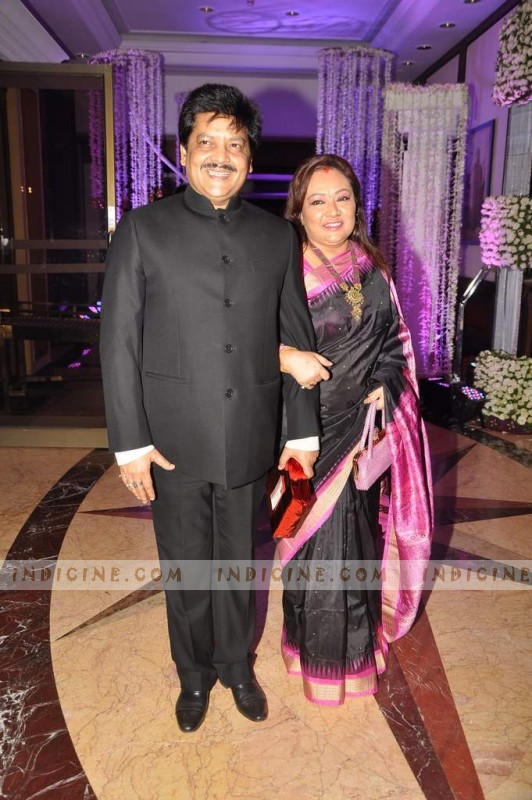 Udit Narayan with Deepa at Sunidhi Chauhan's wedding ceremony