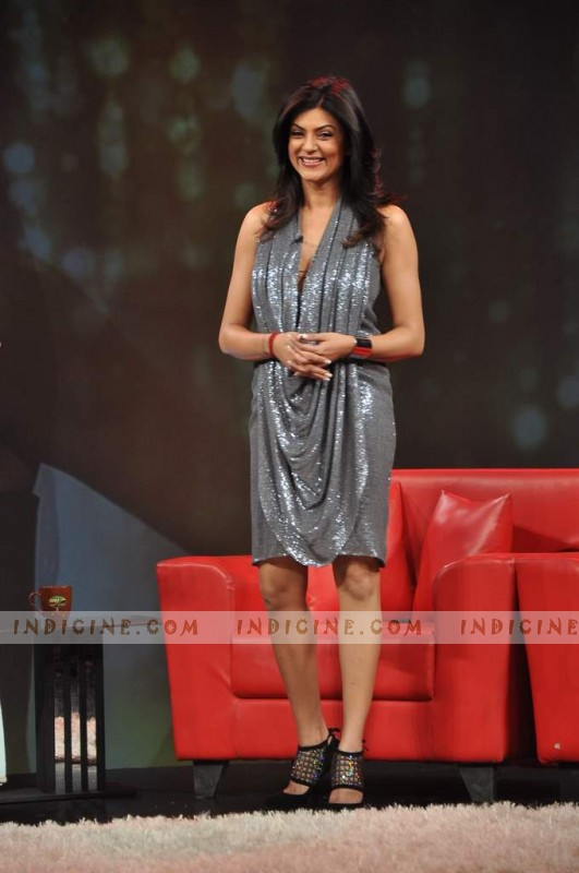 Sushmita Sen at Raveena's chat show for NDTV