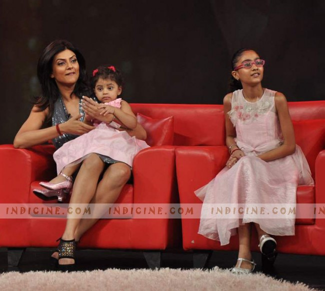 Sushmita Sen with her second daughter Alisah