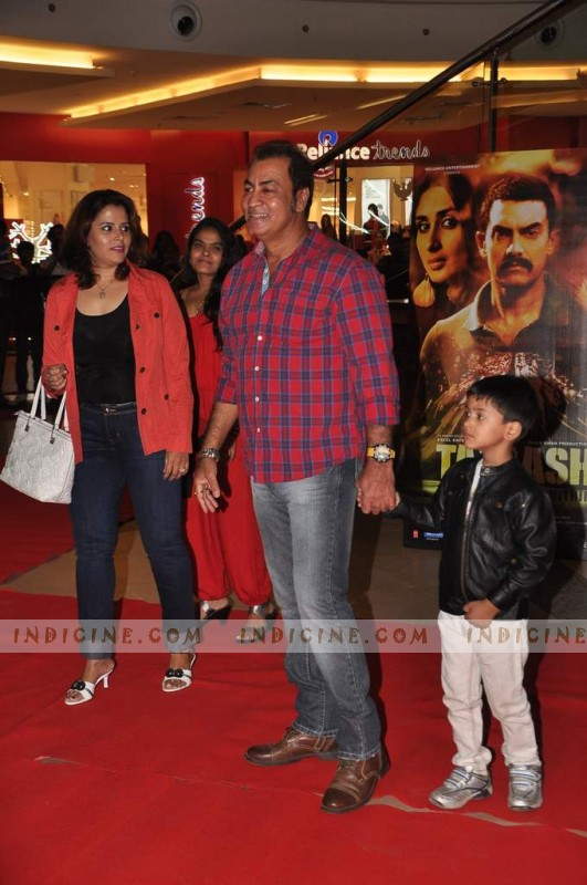 Pradeep Rawat with wife and son