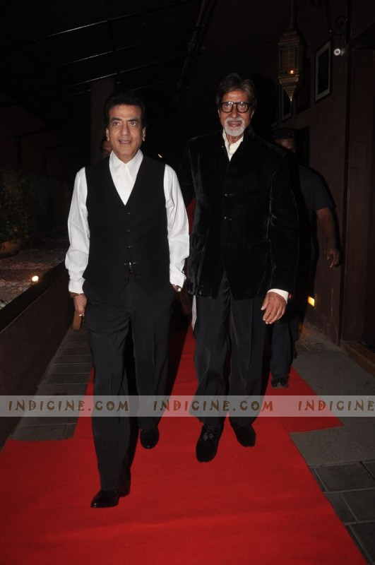 Jeetendra, Amitabh Bachchan at The Dirty Picture success party