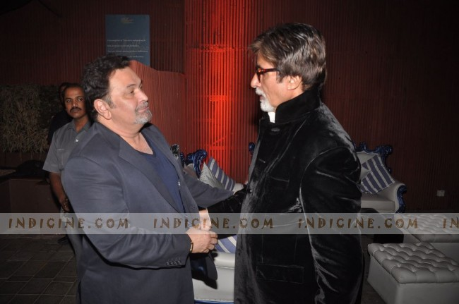 Rishi Kapoor, Amitabh Bachchan at The Dirty Picture success party