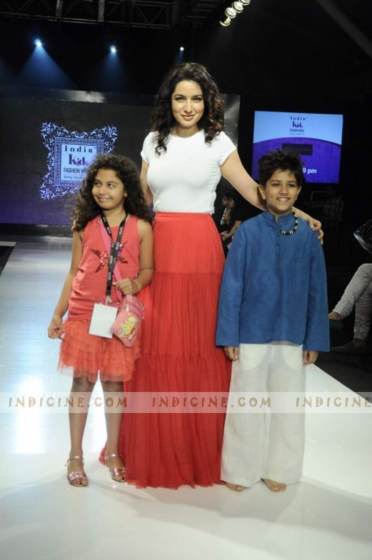 Tisca Chopra walks for India Kids Fashion Show
