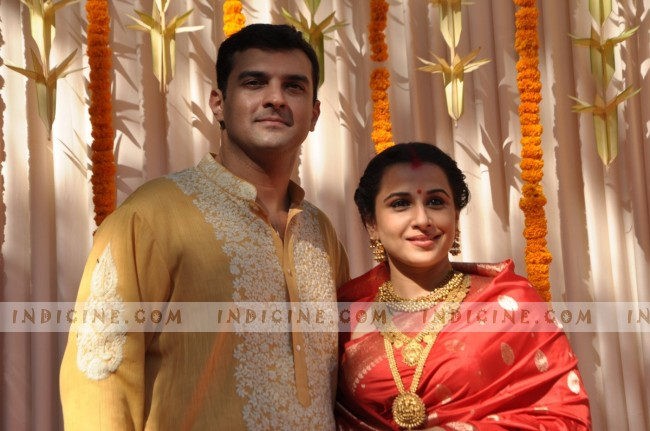 Siddharth Roy Kapur and Vidya Balan after their wedding