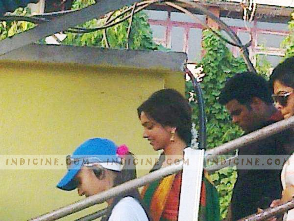 Deepika Padukone on the sets of Chennai Express