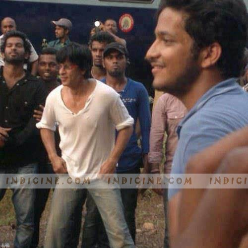 Shahrukh Khan on the sets of Chennai Express