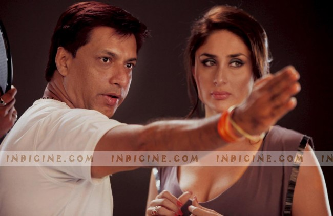 Madhur Bhandarkar, Kareena Kapoor on the sets of Heroine