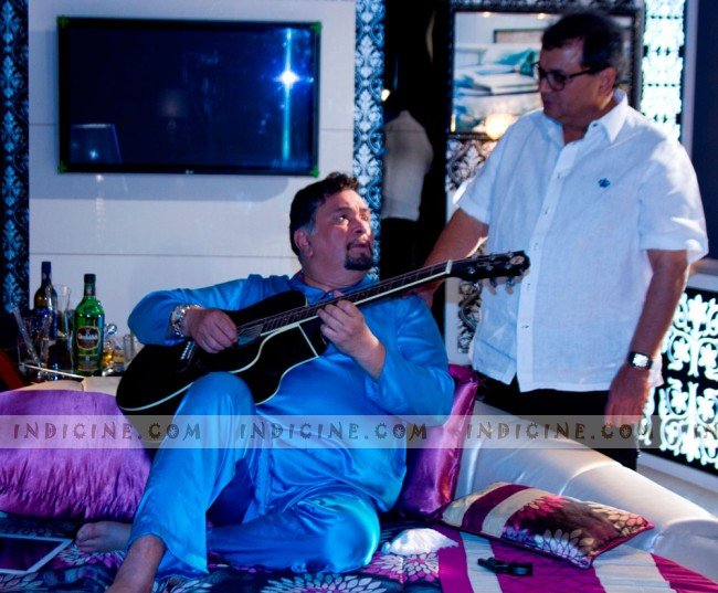 Rishi Kapoor, Subhash Ghai on the sets of Kaanchi