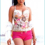 Bikini Pics: Shriya Saran in White and Pink