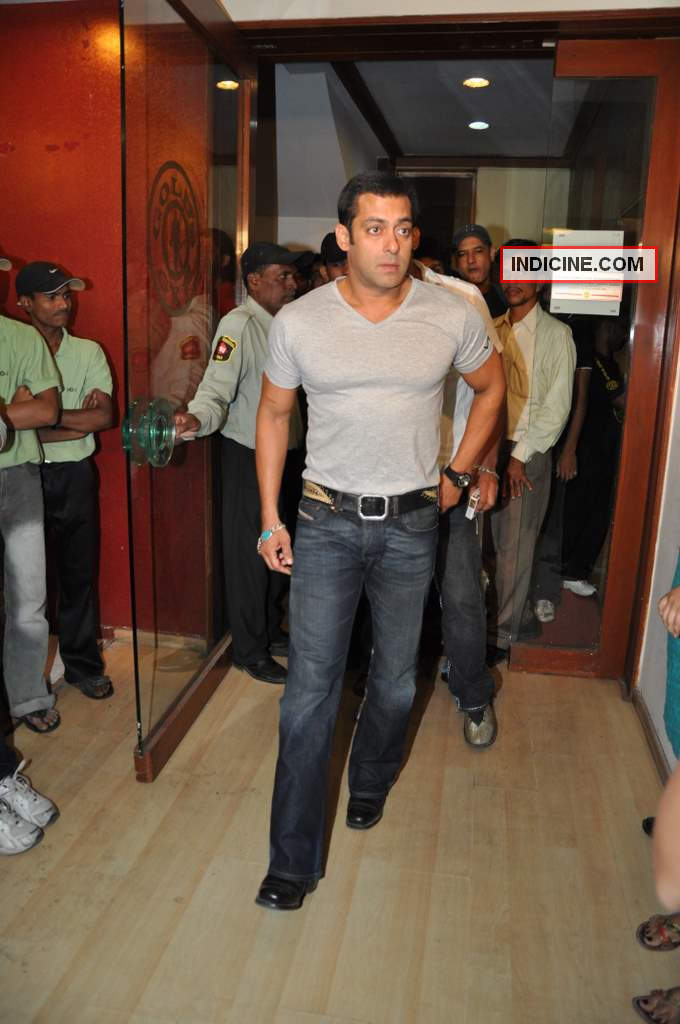 Salman Khan at Gold Gym