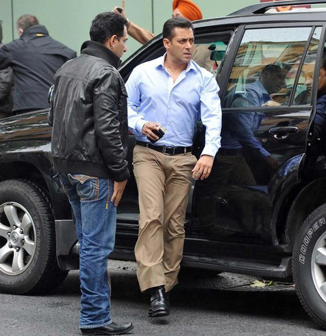Salman Khan at Ek Tha Tiger shooting
