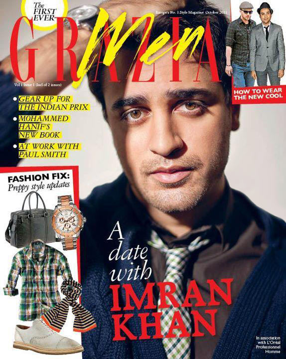 Imran Khan on the cover of Grazia men October 2011