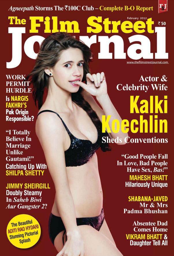 Kalki Koechlin on the cover of Film Street Journal - February 2012