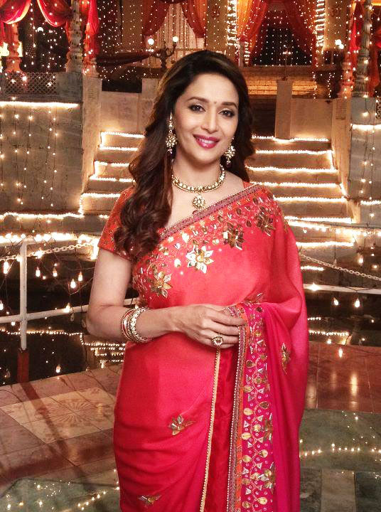 Madhuri Dixit on the sets of Life OK
