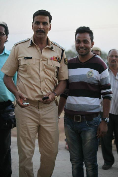 Akshay Kumar on the sets of Rowdy Rathore