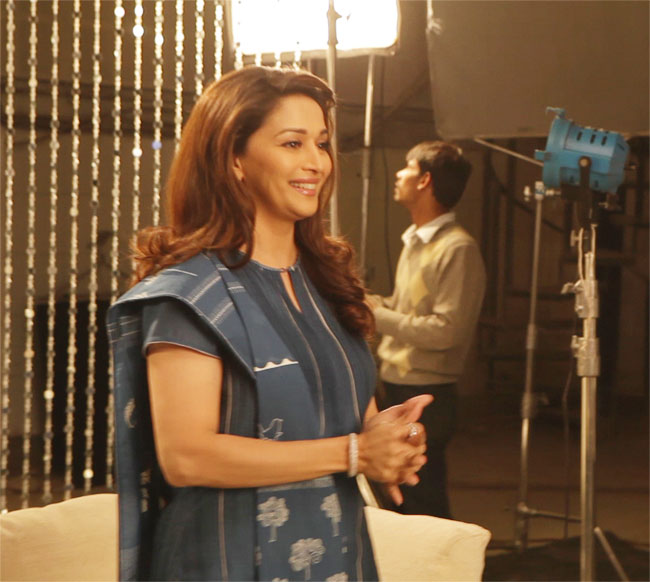 Madhuri Dixit's shoot for Oral B
